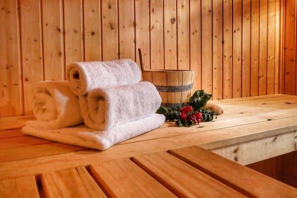 Saunabereich im Ferienhaus Seerose / Seeperle