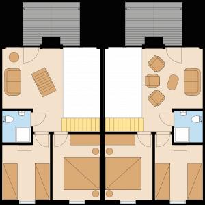 Ferienhaus Fünen XXL in Bad Saarow – Ansicht Grundriss des Dachgeschosses